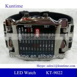 Crab Style Men's LED Black Rubber Band Wrist Watch