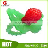BPA Free Red Silicone Baby Berry Teether Wholesale