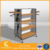 Portable clothes store design floor shelving gondola display rack