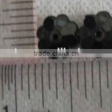 BLACK COLOR Flower Shape Acrylic Stone sewing for 10mm Button