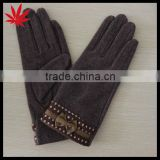 woolen fashion gloves for women
