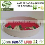 christmas seasons bamboo tray for party round eco bamboo fibre cutlery home product dishes tray