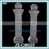 Marble roman column with ball