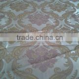 Polyester flower bamboo Vitnam&Thailand&Cambodia window Curtain Fabric CL-028