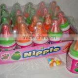 LTC-052 Nipple lollipop with pressed candy/nipple hard candy