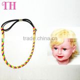 new arrival custom multi-colors hair accessories flexible coil hair band for girls
