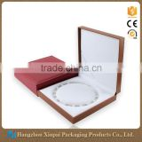 Square Large Leather Jewelry Box Pearl Necklace Box