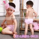 Latest Wholesale Ruffled Panties Baby Diapers Kids Clothing Lace Bloomer