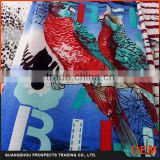 2016 Custom Made New Patterns Water Trandfer Bird Printing Fabric for clothing
