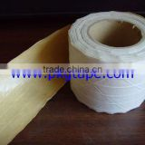 Reinforced gummed paper tape in brown color, cinta de papel engomado