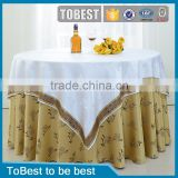 ToBest Hotel supplies factory wholesale 100% linen table cloth/restaurant tablecloth / Chair cover