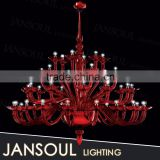 China supplier Jansoul Lighting interior wedding decoration murano glass chandelier large red crystal chandeliers