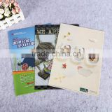 full color printing single page polypropylene plastic L shape folder a4 size file foldersheet protector