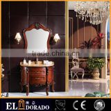 China Wholesaler Marble top solid wood Euro style luxury bathroom vanities Classic 100% oak wood cabinets S-6928