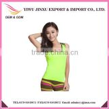 2015 New Fashion Women's Dry Quick Gym Singlets Yoga Singlets Hole in Shoulder Sleeveless Gym Tank Tops