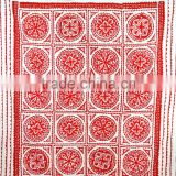 Indian Applique Kantha Quilt Patchwork Bedspread Cotton Handmade Throw Ralli Cut Work Kantha Blanket