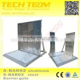 A-BAR02 Safety Used Crowd Control Barrier Gate,Portable Aluminum Barrier Gate for concert security, event,festivals