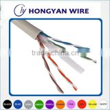 Network cabling gigabit ethernet cat6 utp cable 23awg 0.57mm bare copper cat6 upt network cable