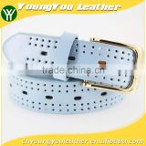 HOT 1 inch Women fashion summer dresses belt with colorful leather buckle in summer china Factory