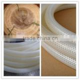 High temperature high pressure flexible tranparent food grade polyester braided silicone hose
