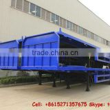 40 feet container platform semi trailer 3 axle semi trailer 365/85R22.5 (Single tire) factory cell Tom:86-15271357675