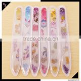 2015 Beauty salon equipment manicure tools 14cm glass nai file for nail art