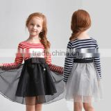 Baby Girls Striped Gauze Tutu Dress Skirt Princess Clothes Manufacturer OEM ODM Factory Guangzhou