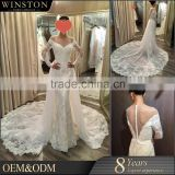 2016 Fashion High Quality lace alibaba wedding dress 2016 V-neckline wedding dress bridal gown                                                                                         Most Popular
