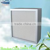 High efficiency aluminum frame HEPA air filters