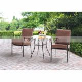 3 PCS Piece KD All Weather Square Outdoor Patio Bistro Furniture Set