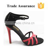 red beautiful women sandals open toe sandals
