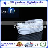 For apple lightning usb cable 8pin sync charger cable for iPhone 5/iPhone 5s/iPhone 6 support iOS8