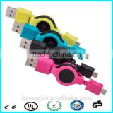 Fast charge and sync flat retractable spring micro usb cord                                                                                                         Supplier's Choice