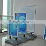 Outdoor strong wind resistant double sides water filled advertising board,B2 forecourt poster display