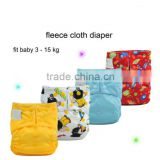 Factory Wholesale One Size Fleece Cloth Diaper Reusable Baby Pocket Diapers Nappies                                                                         Quality Choice