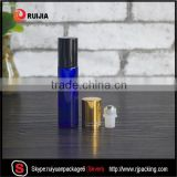 RUIJIA 4ml 6ml 8ml 10ml 1/3 oz clear amber blue pen glass roll on perfume glass bottle with stainless steel roller ball                                                                                                         Supplier's Choice