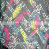 50D Polyester Embroidered Crepe Print Floral Chiffon Yarn For Garment