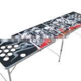 Skeleton Design Portable Folding Beer Pong Table Official Beer Pong Outdoor Aluminun Folding Beer Pong Table