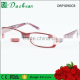 2016 latest design unisex reading eyewear frames with beautiful pattern,reading eyeglasses with spring hinge