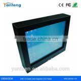 Square screen 15inch fanless mini industrial pc with Black powder coated aluminum front cover