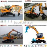 XINIU 8 tons Crawler Excavator X8 with Good Performance,0.3cbm bucket for wheel excavator