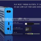 Super Slim Rectangle Bluetooth Wireless Speaker Mini Portable Stereo 6w Speaker With TF Card Slot