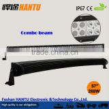 "Double Row 288W curved led light bar offroad for truck /57.1"" led light bar diecast aluminium housing/waterproof/Model:HT-19288W"
