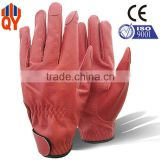 Red Rose Grain Leather Labour Protection Glove for Women