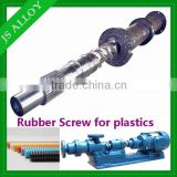 Bimetallic extruder screw barrel/pinned screw and barrel/cold feed screw and barrel for rubber machine