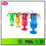 400 ml plastic multicolored hurricane glasses for drinking