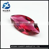 Synthetic 10x20mm marquise cut rose red ruby crystal glass gems stone