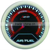 52mm smoke lens / super white led electrical Air/ Fuel Ratio gauge/52mm simple type air fuel ratio gauge