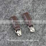 2# Metal Sliders for Luggage, N/L Metal Sliders with Leather Puller