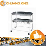 wholesale machining stainless steel shopping trolley cart, stainless steel hospital trolley